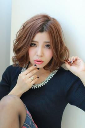 【afloat 世紀】ノーバング小顔ボブ 秋冬カラー☆ピンクショコラ☆SK-44