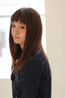 【afloat 世紀】髪型 オン眉ストレートヘアー チョコレイトカラー SK-61