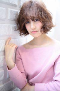 【afloat 世紀】髪型 ミディアムボブ ミルクティーベージュ SK-101