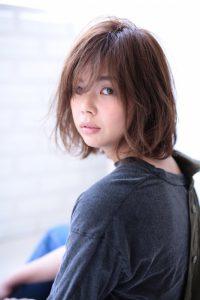 【afloat 世紀】髪型 ひし形 ニュアンスボブ ペールベージュ SK-120