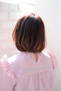 【HAPPINESS 河原町 世紀】髪型 ひし形 愛されワンカールボブ ピンクブラウン SK-124