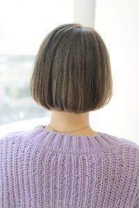 【HAPPINESS 河原町 世紀】髪型 おしゃれ可愛い小顔ボブ オリーブアッシュ SK-144