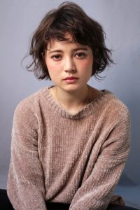 【HAPPINESS 河原町 世紀】髪型 外国人風ニュアンスボブ SK-155