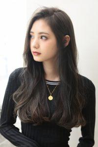 【HAPPINESS 河原町 世紀】髪型 外国人風ロングレイヤー グレージュカラー SK-143