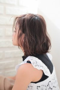 【HAPPINESS 河原町 世紀】髪型 モテ愛されニュアンスボブ SK-164