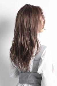 【HAPPINESS 河原町 世紀】髪型 前髪長めラフカールミディ ラベンダーベージュ SK-146