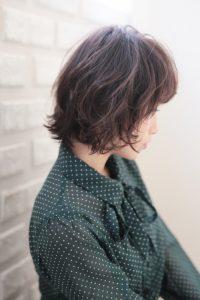 【HAPPINESS 河原町 世紀】髪型 モテ愛されニュアンスボブ デジタルパーマ SK-173