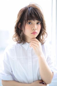 【afloat 世紀】髪型 ひし形外ハネミディ SK-96