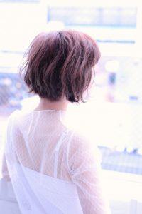 【afloat 世紀】髪型 切りっぱなしボブ ヴァイオレットブラウン SK-111
