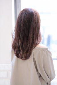 【afloat 世紀】髪型 ひし形 王道ワンカールミディ ラベンダーブラウン SK-122