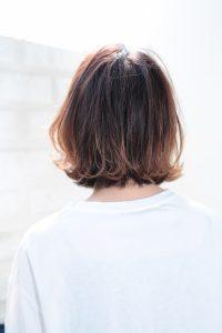 【HAPPINESS 河原町 世紀】髪型 モテ愛され外ハネボブ ラベンダーブラウン SK-130