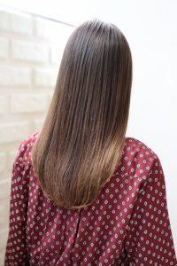 【HAPPINESS 河原町 世紀】髪型 モテ愛されワンカールストレート ナチュラルベージュ SK-126