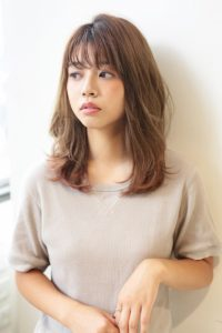 【HAPPINESS 河原町 世紀】髪型 モテ可愛いニュアンスウェーブ ラベージュ SK-141