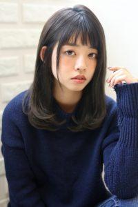 【HAPPINESS 河原町 世紀】髪型 清楚系ワンカールミディ SK-161