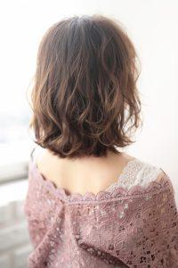 【HAPPINESS 河原町 世紀】髪型 モテ愛されニュアンスボブ デジタルパーマ SK-174