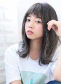 【HAPPINESS 河原町 世紀】髪型 オン眉切りっぱなしミディ ペールグレージュ SK-132